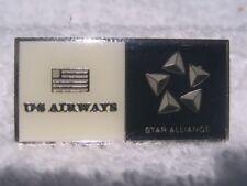 US Air/US Airways Star Alliance Pin/Tie Tack - Dark Blue & Cream - New in Bag