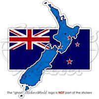 NEUSEELAND LandKarte-Flagge, Karte-Fahne Auto Aufkleber Vinyl Sticker, Decal