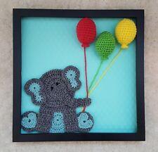 Handmade Crochet Baby Shadow Box