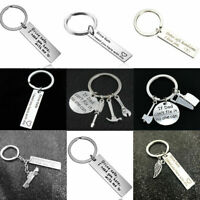Drive Safe Stainless Steel Keychain Keyring Key Chain Ring For Men Family Gifts