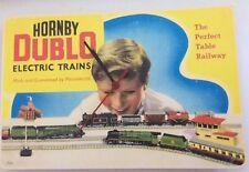 HORNBY DUBLO TRAINS SHOP VINTAGE DISPLAY CARD NEW BATTERY CLOCK MECCANO ENGLAND