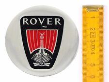 ROVER ★ 4 Stück ★ ALUMINIUM Ø60mm Aufkleber Emblem Felgenaufkleber Radkappen
