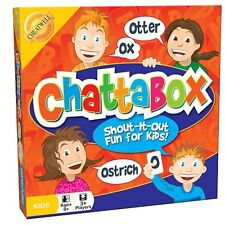 CHATTABOX FAST PACE WORD GAME FOR FAMILY & KIDS BRAND NEW FULL SIZE 8+ CHEATWELL