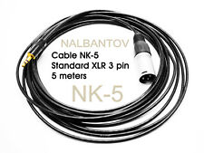 Cable NK-5 – Standard XLR 3 pin to NCM Microphone Pickup Systems
