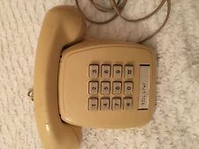 STUNNING VINTAGE TELECOM CREAM PUSH BUTTON TELEPHONE - DESK TABLE PHONE