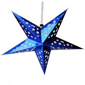 3D Laser Paper Star Lampshade Lantern Xmas Wedding Party Home Bar Hanging Decor