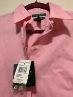 NEW $59 Ralph Lauren Womens Non-Iron Button Up Front Shirt New Rose color Sz XS
