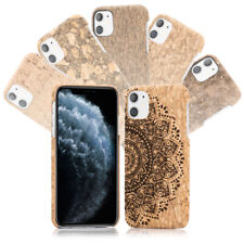 NALIA Kork Handy Hülle für iPhone 11, Natur-Holz Hard Case Design Cover Dünn
