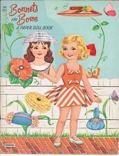 Vintge 1950S Bonnets Bows Paper Doll ~Adorable Laser Reproduction~Org Size Uncut