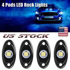4 Pods LED Rock Lights Underbody Lamp 9W For JEEP Offroad Truck UTV ATV Boat