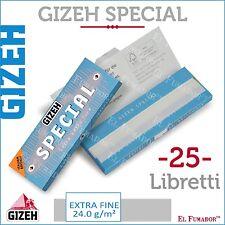 1250 Cartine GIZEH SPECIAL CORTE 25 LIBRETTI DA 50 Fogli - EXTRA FINE ORIGINAL