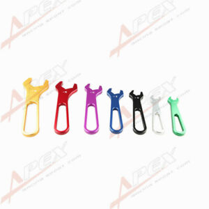 3AN TO 16AN BILLET ALUMINUM ALLOY AN WRENCH SET SINGLE ENDED SPANNER COLORFUL