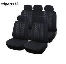 Audi A3 A4 A5 A6 A8 90 100 Fodere Copertura Sedili Nero 9 Pz Tessuto