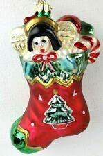 Fitz & Floyd Stocking Glass Christmas Ornament