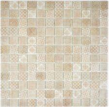 Retro Vintage Mosaik Fliese ECO Recycling GLAS ECO beige Dusche Wand 145-P-50_b