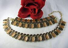 Vintage Lisner Thermoset Necklace & Bracelet SEt CAT RESCUE
