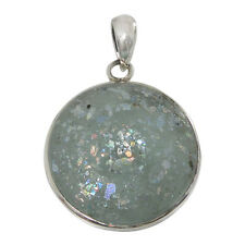 Sterling Silver Pendant w/ 2,000 Year Old Antique Roman Glass (BTS-NP7116/RG)