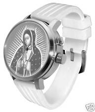 Virgin Mary Lithophane Watch: 3D LED jesus bible light bright white steel