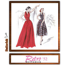 Butterick 4919 Retro Back To 1952 Dress & Evening Gown