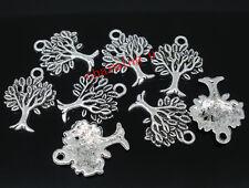 8pz charms ciondoli albero della vita colore tibetano 17x22mm  bijoux