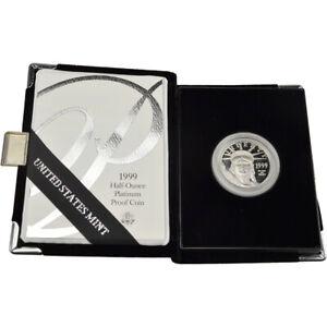 1999 W American Platinum Eagle Proof 1/2 oz $50 in OGP