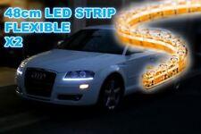 2x 48CM BRIGHT WHITE FLEXIBLE LED AUDI A5 STYLE CAR STRIP DAYTIME RUNNING LIGHT