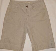 Shorts Merona 4 (30x11) Bermuda Walking Striped Khaki Green Casual Womens B10