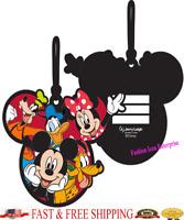 Disney Luggage Tag Hang on Gang Mickey Minnie Goofy Pluto Donald Luggage Tag