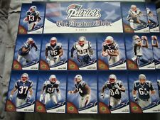 2007 New England Patriots The Boston Globe rare uncut Upper Deck cards faulk