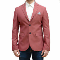 Giacca Uomo Vincent rossa pois bianchi giacca blazer elegante made in Italy