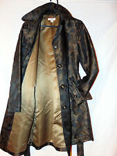 ~COLDWATER CREEK WOMENS POLYESTER COAT BROWN POLYESTER TRENCH COAT SZ S  (6-8)