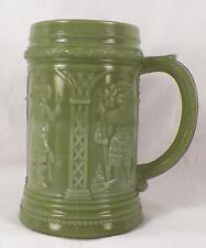 Westmoreland Knights Custard Glass Mug Medium Green Early American Pattern Stein