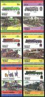 Tuvalu 1984 Trains Locomotives MNH ** (28)