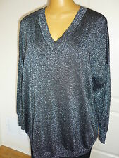 $139, NWT, Jones New York long sleeved, knit, V neck, black sweater sz 2X 22W