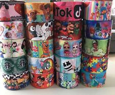 """20yds Mixed of 3"""" Printed Grosgrain Ribbon. Designs of sellers choice."""
