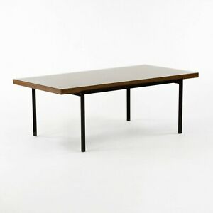 1950 Florence Knoll RARE T Angle Coffee Table No. 115 in Black & Walnut Laminate
