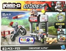 GI JOE KRE-O Blocks CHECKPOINT ALPHA A3361 Playset 2 Minifigures Firefly & Law
