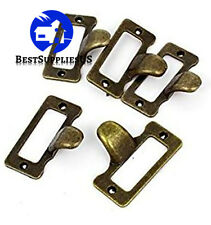 Door Pull Handle 20 Pcs Antique Iron Label Frame Card Holder Cup Drawer Box