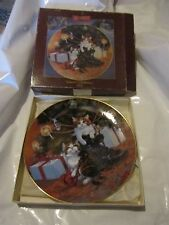 "1984 Lowell Davis ""Country Christmas"" plate Ltd Edition Schmid Collectors certs."