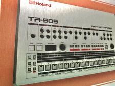 "Roland TR 909 A4 Framed drum machine print on aluminium 10"" x 14"" Inc Frame  NEW"