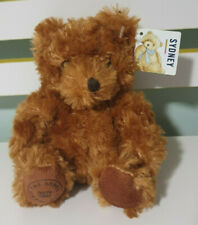 SEBEL TEDDY BEAR SYDNEY BEAR 18CM BROWN BEAR WITH TAG SEBEL STANDARD