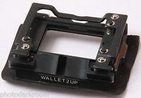 Noritsu Wallet 2-Up Negative Carrier Stage Holder - Minilab Part - USED D96B