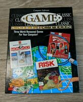 Computer Software Game Collection Clue, Risk, Monopoly Floppy