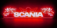 24V Red LED Interior Cabin Light Plate for Scania Trucks Neon Table 500mm Sign