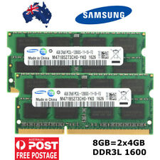 8GB DDR3 2 x 4GB Samsung SoDIMM Laptop RAM PC3L 1600MHz 12800S Notebook Memory