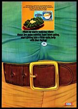 1974 Diet Parkay Margarine Kraft Belly Pooch Belt Vintage Photo PRINT AD 1970s