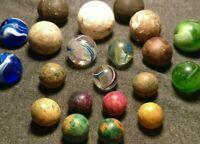 EPIC LG TRANSPARENT SWIRL & MINTY EOD Latticinio German HANDMADE Marbles BOULDER