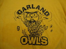 Vintage Garland Owls Texas High School Soft Yellow football T Shirt adult Xs