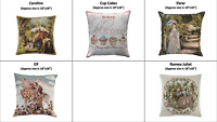 Tapestry Fabric European Gobelin Decorative Pillow Cover Art Collection