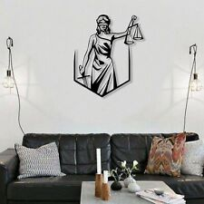 Metal Wall Art, Themis Lady Justice, Metal Wall Decor, Office Decoration